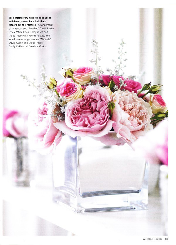 David austin rose wedding flower inspiration