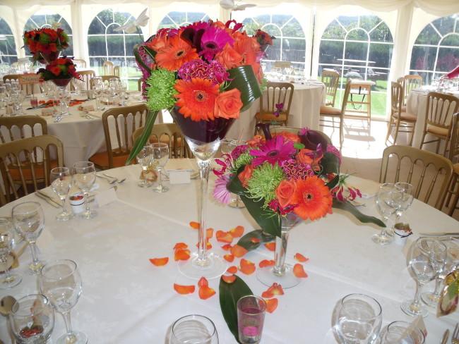 Marquee wedding flower inspiration