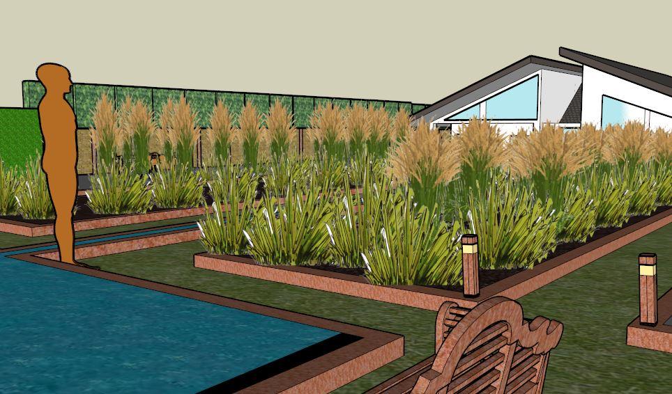 Garden design CGI image
