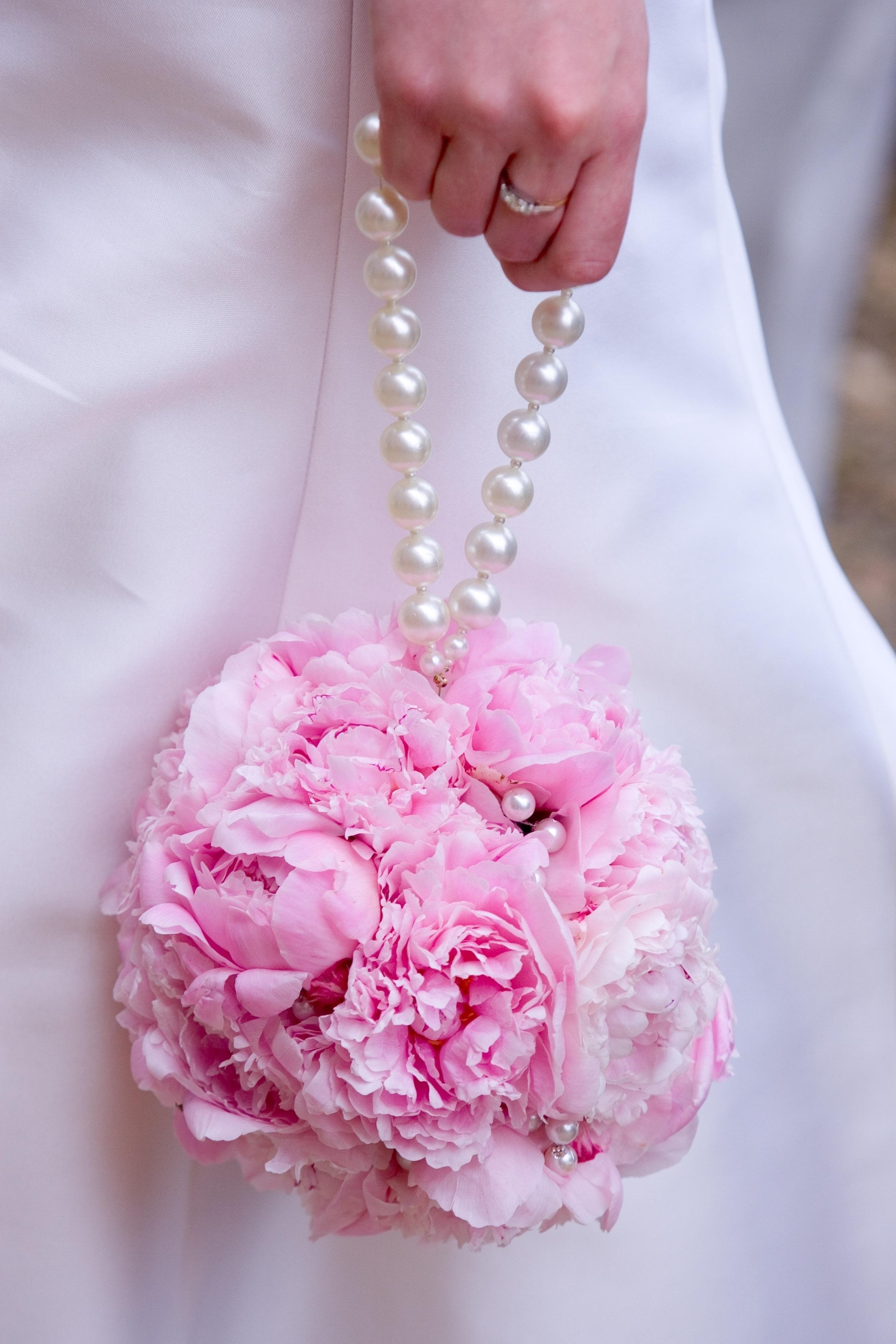 Wedding flower pink bridal pomander