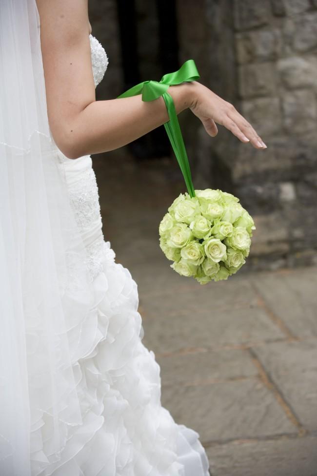 Wedding flower bridal pomander