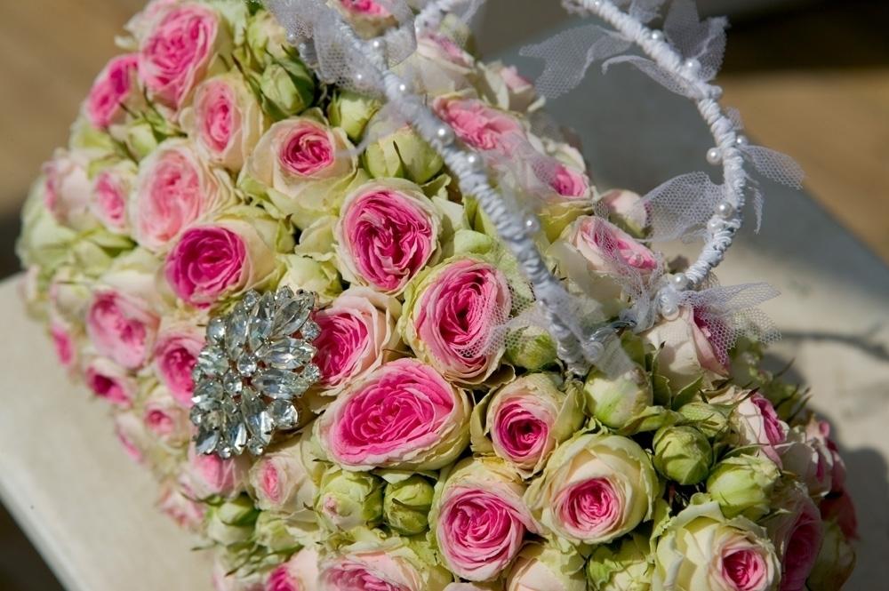 Floral handbag wedding flower inspiration