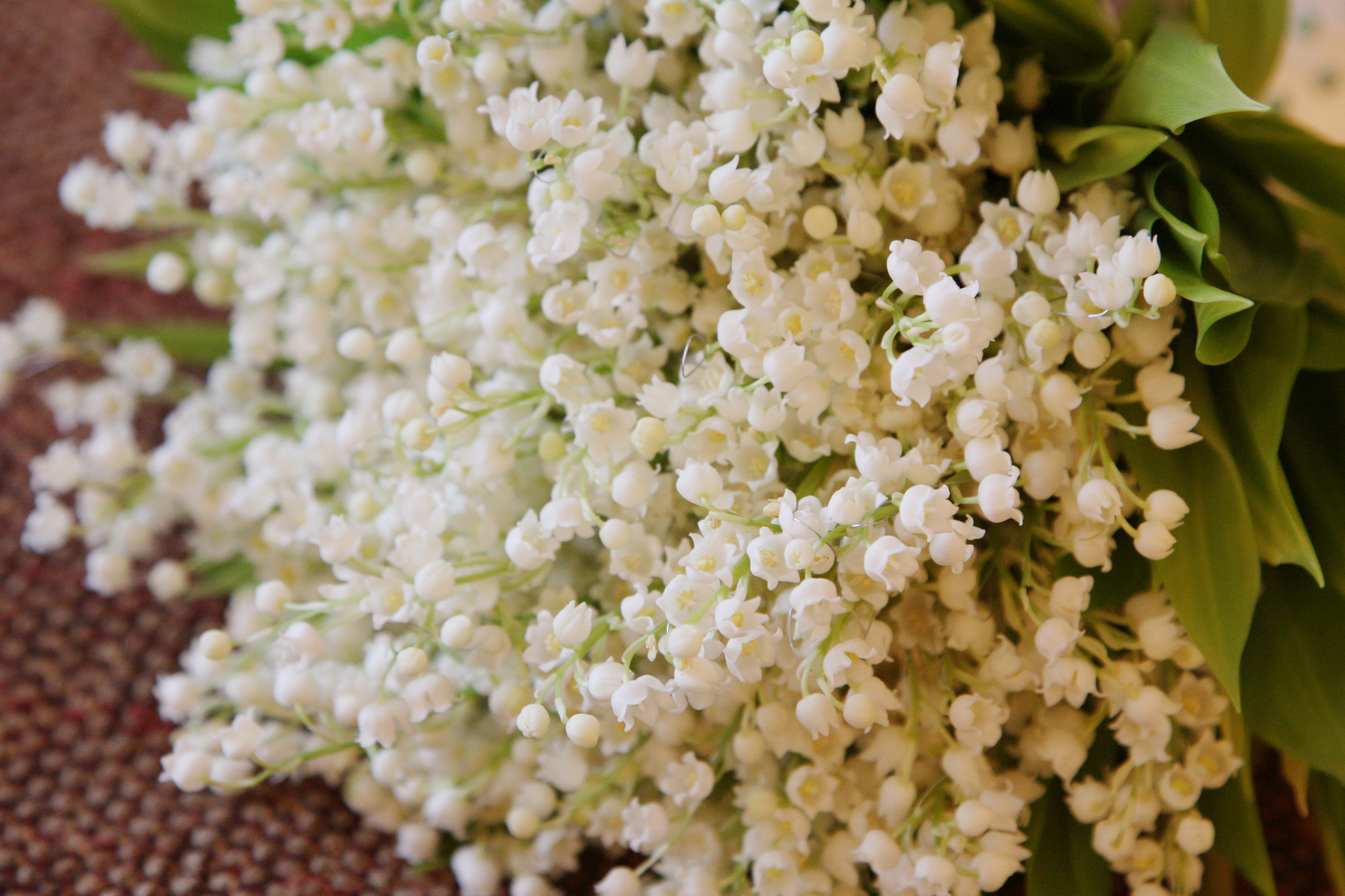 Wedding flower lily of the valley bouquet