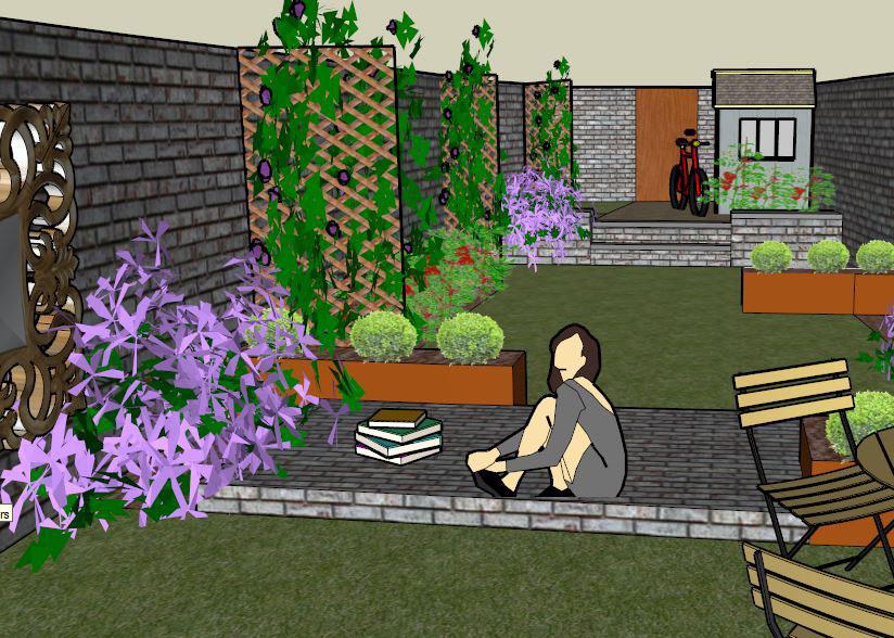 Small courtyard garden design