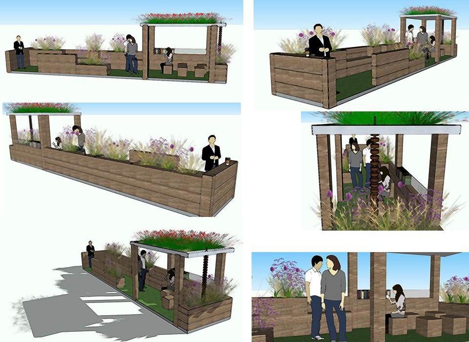 Cindy Kirkland Urban Parklet design