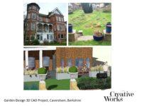 Cindy Kirkland Creative Works Garden Design 3D CAD Project, Caversham, Berkshire