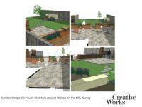 Cindy Kirkland Creative Works Garden Design 3D visuals SketchUp project Walton on the Hill, Surrey