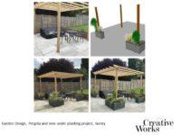 Cindy Kirkland Creative Works Garden Design, Pergola and new under planting project, Surrey