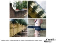 Cindy Kirkland Garden Design, acoustic fence & Betula albosinensis Fascination tree privacy screening project, Reigate, Surrey