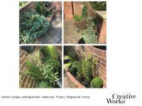 Cindy Kirkland Creative Works Garden Design, existing border make-over Project, Kingswood Surrey