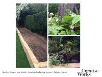 Cindy Kirkland Creative Works Garden Design, new border creation & planting project, Reigate, Surrey