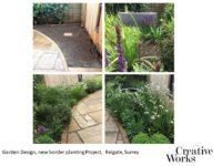 Cindy Kirkland Creative Works Garden Design, new border planting Project, Reigate, Surrey