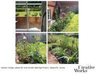 Cindy Kirkland Creative Works Garden Design, phase #2 new border planting Project, Tadworth, Surrey
