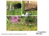 Cindy Kirkland Creative Works New borders created for new build house in Surrey