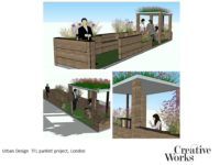 Cindy Kirkland Creative Works Urban Design TFL parklet project, London
