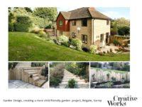 Garden Design, creating a more child friendly garden project, Reigate, Surrey