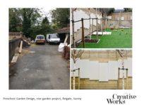Preschool Garden Design, rear garden project, Reigate, Surrey