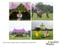 Flower Power Styling Project at Glastonbury Festival for EE