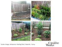 Garden Design, Herbaceous Planting Plans, Tadworth, Surrey