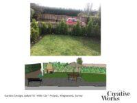 "Garden Design, Asked To ""Hide Car"" Project, Kingswood, Surrey"