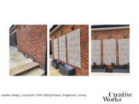 Garden Design, Composite Trellis Styling Project, Kingswood, Surrey