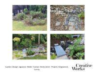Garden Design Japanese Water Feature Restoration Project, Kingswood, Surrey