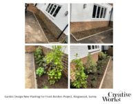 Garden Design New Planting For Front Borders Project, Kingswood, Surrey