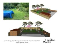 Garden Design, More Manageable Garden with New Circulation Paths Project, Ashtead, Surrey